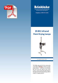 Brinklake IR-B01 Infrared Paint Drying Lamps information PDF