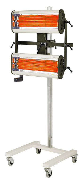 Paint Shop Twin Drying Lamps Infrared Paint Dryer IR-B02