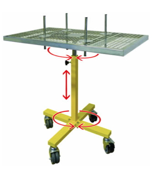 Twister Mobile Rotary Paint Table